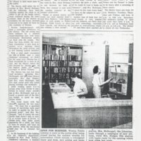 Weston Library re-opened after decorating, September 1962<br />