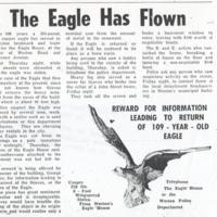 """The Eagle Has Flown"" - Eagle House Eagle Gone Missing"