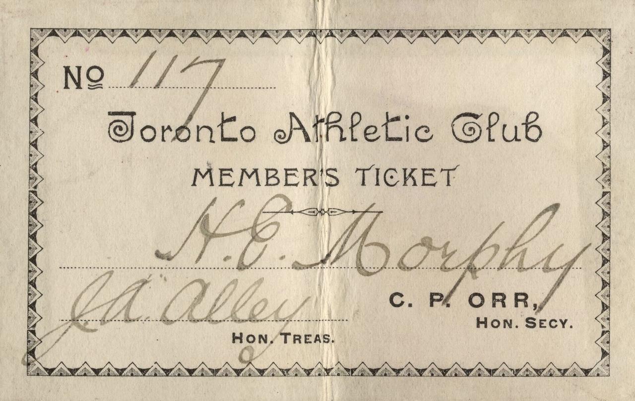 Toronto Athletic Club members ticket