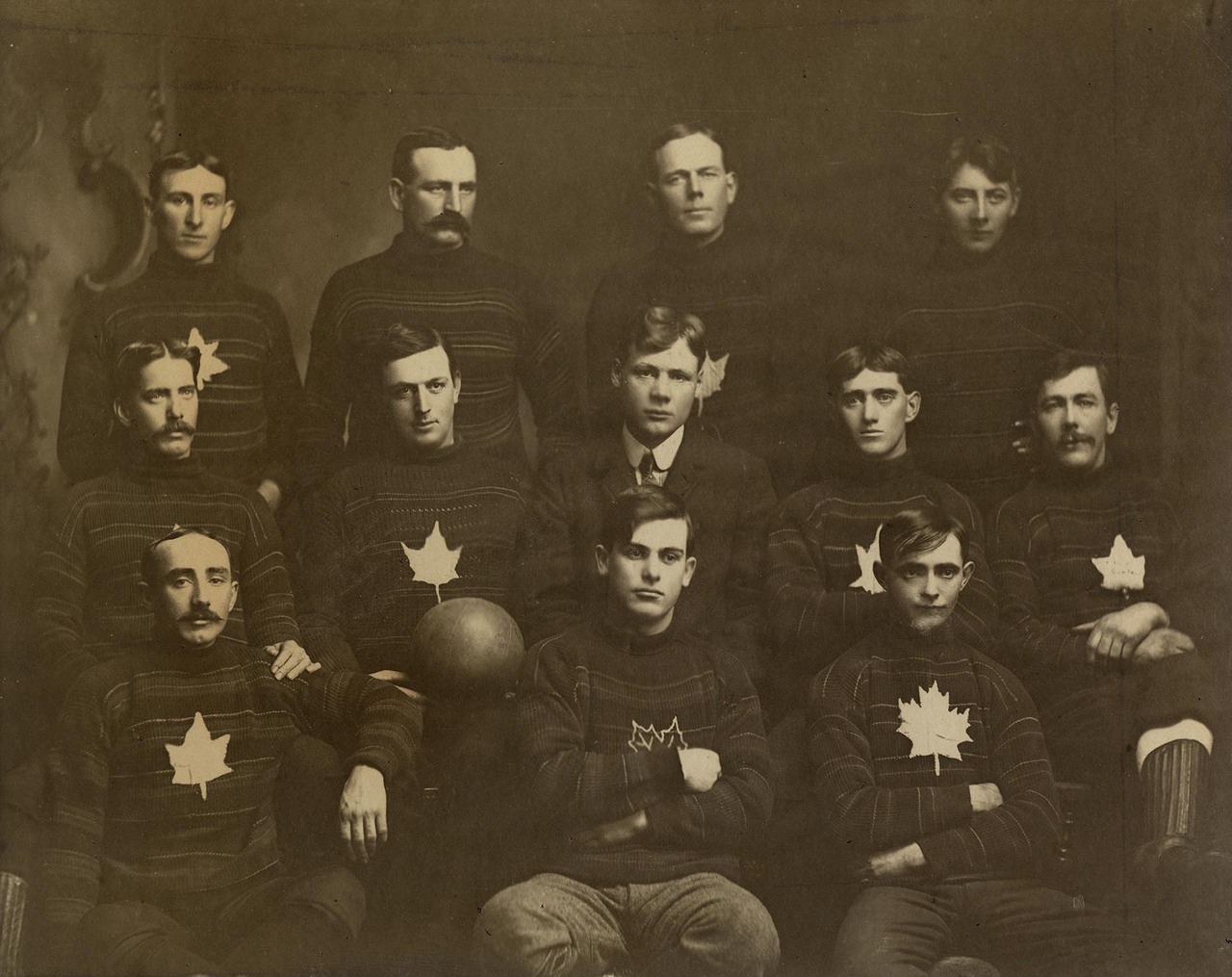 Scarboro Maple Leaf Foot Ball Winners of the East York League, 1902