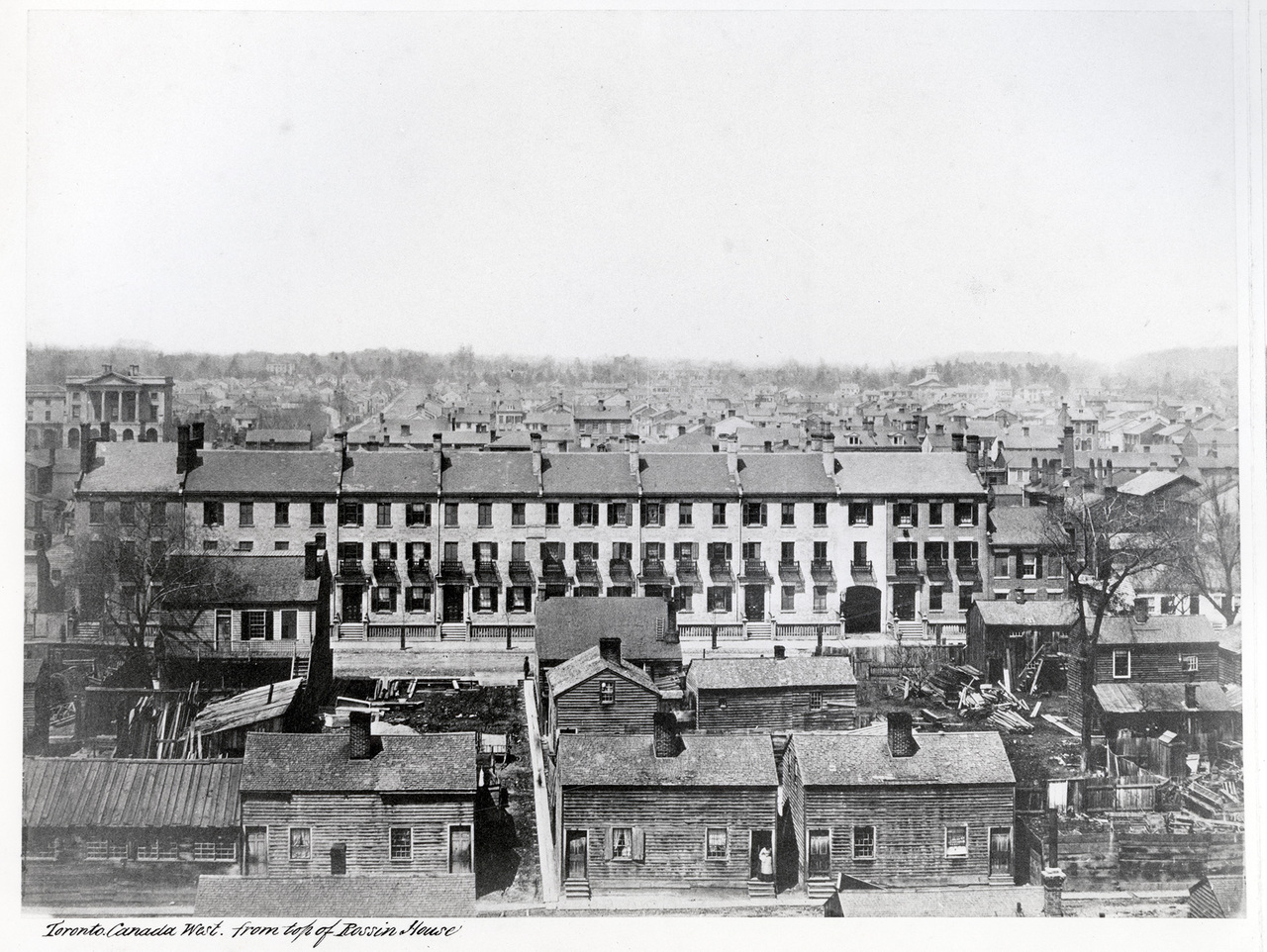 Toronto from the top of the Rossin House Hotel, looking north