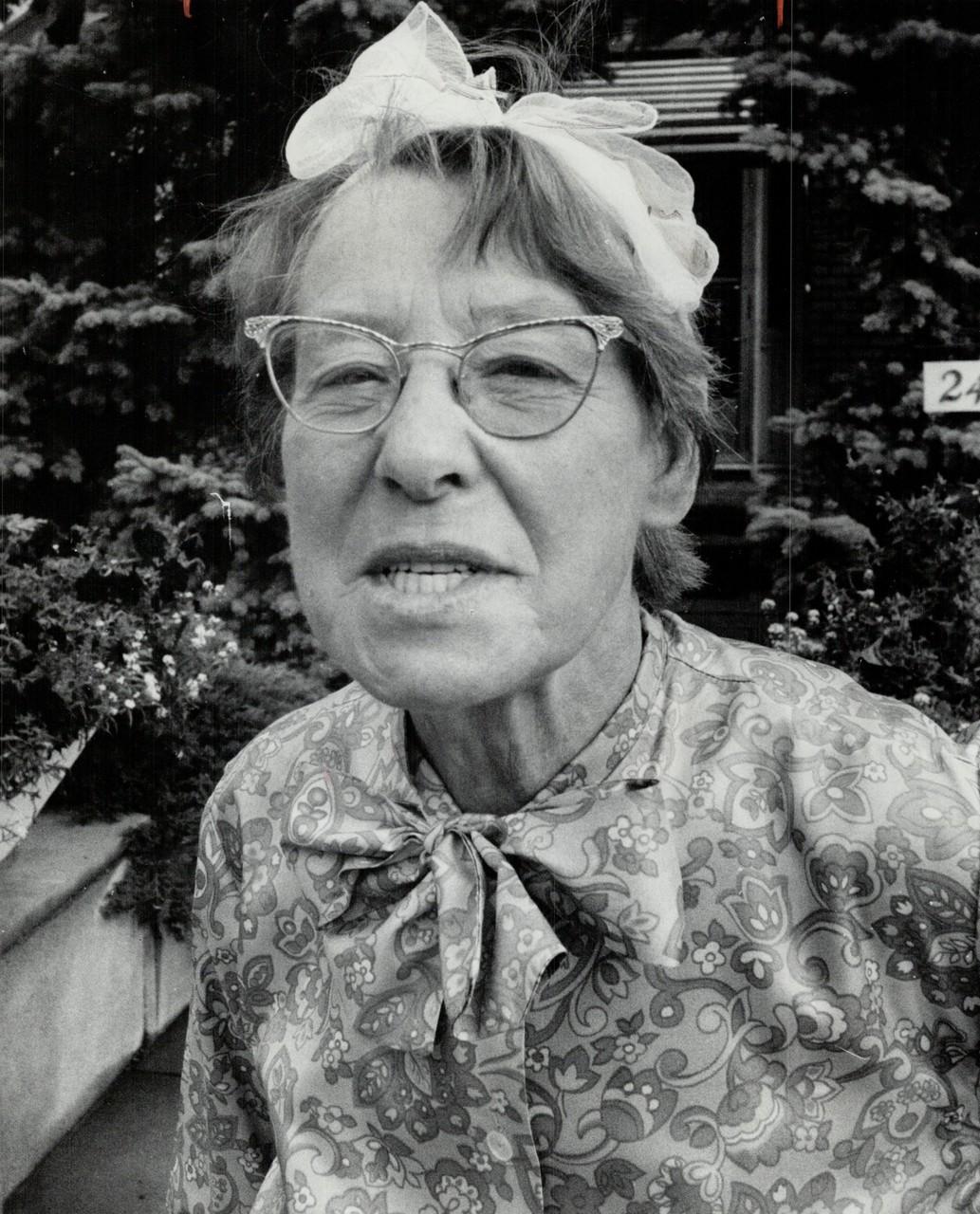 Pensioner Mrs. Jean McCormick