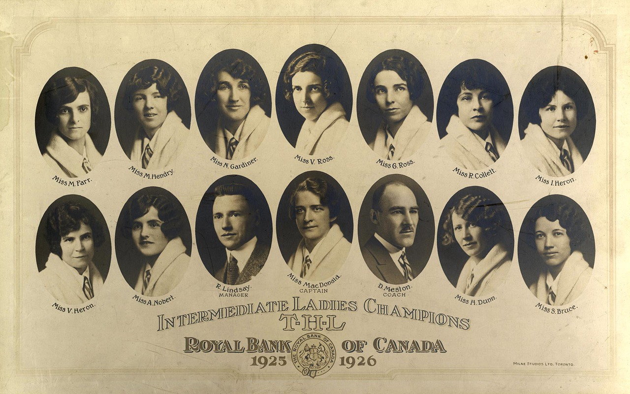 Toronto Hockey League Intermediate Ladies Champions