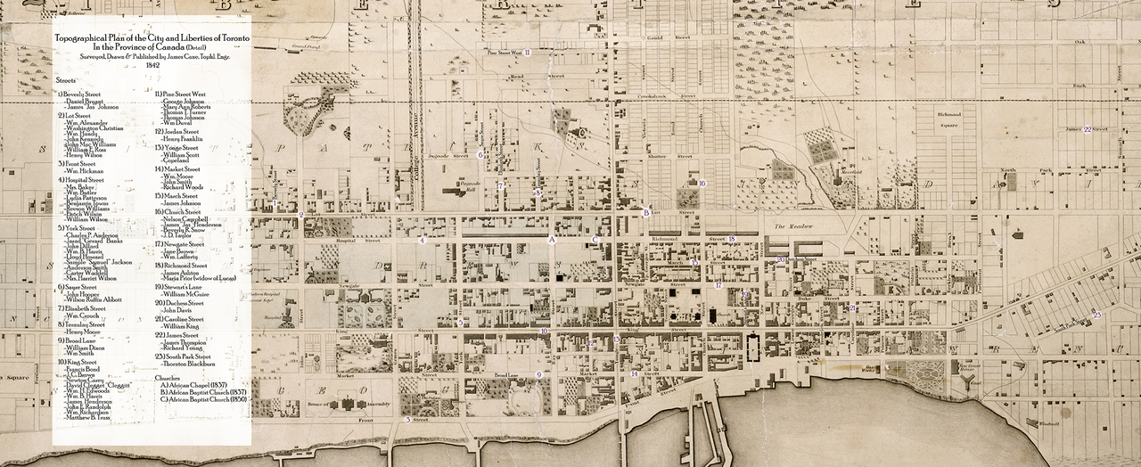 Topographical plan of the city and liberties of Toronto in the province of Canada