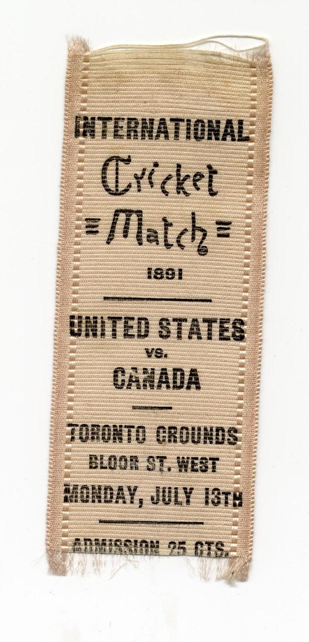 International Cricket Match 1891, United States vs. Canada