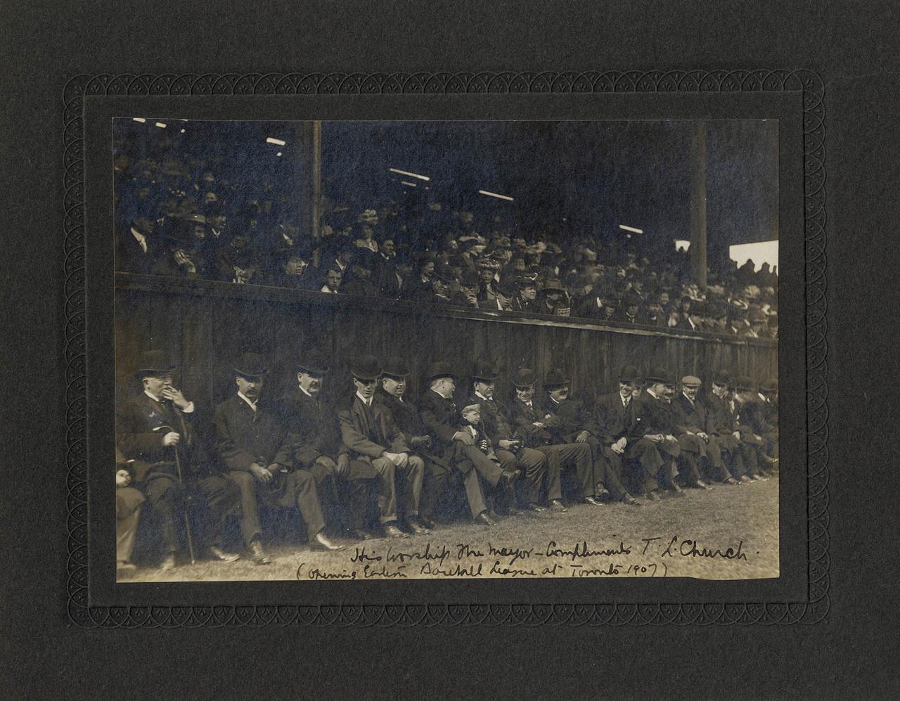 Eastern Baseball League, opening game of season at Diamond Park, Liberty St., s.e. cor. Fraser Ave.