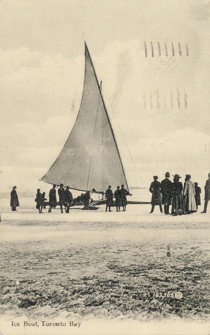 Ice boat, Toronto Bay