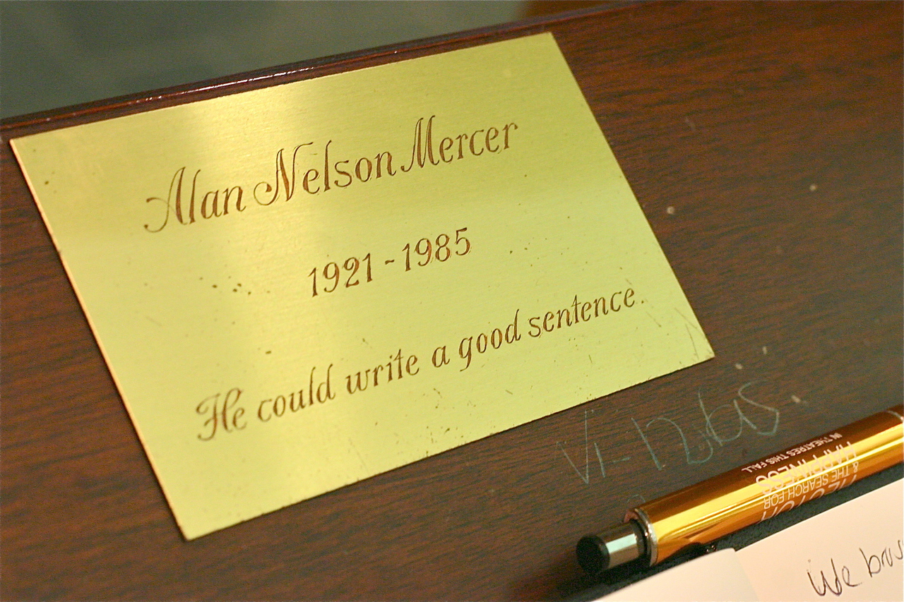 In memory of Alan Nelson Mercer