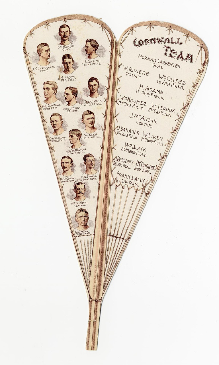 Paper fan announcing match between Toronto and Cornwall