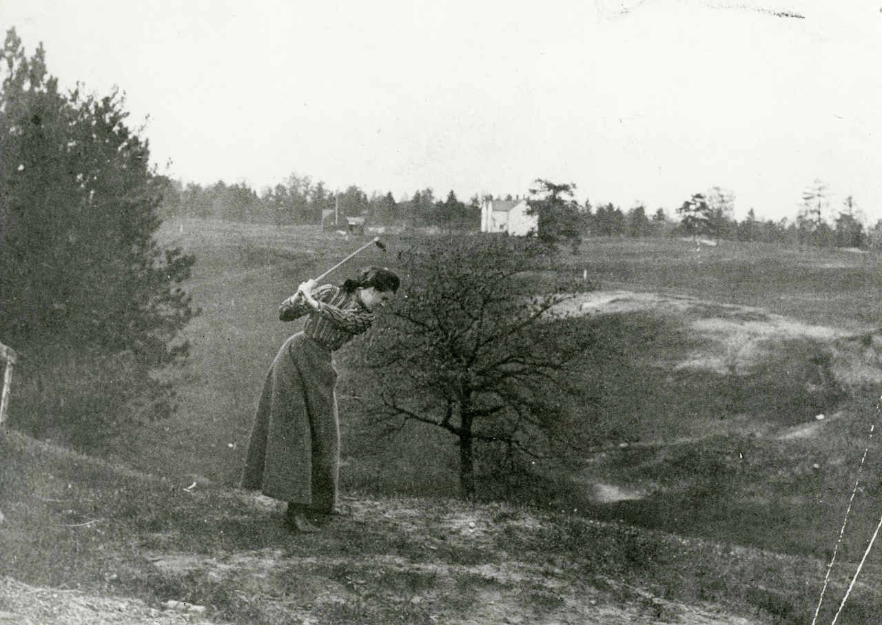 Swansea Golf Links, looking n.e. from n. of Morningside Ave., between Dune St. & Lavinia Ave.; houses in background on Beresford Ave., n. of Deforest Rd.