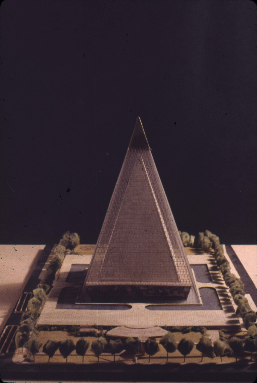 R. G. Smith entry, City Hall and Square Competition, Toronto, 1958, architectural model