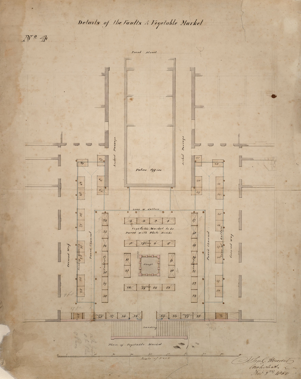 Plan of details of the vaults & vegetable market