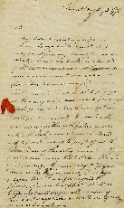 Letter from Henry Lewis to his master, William Jarvis