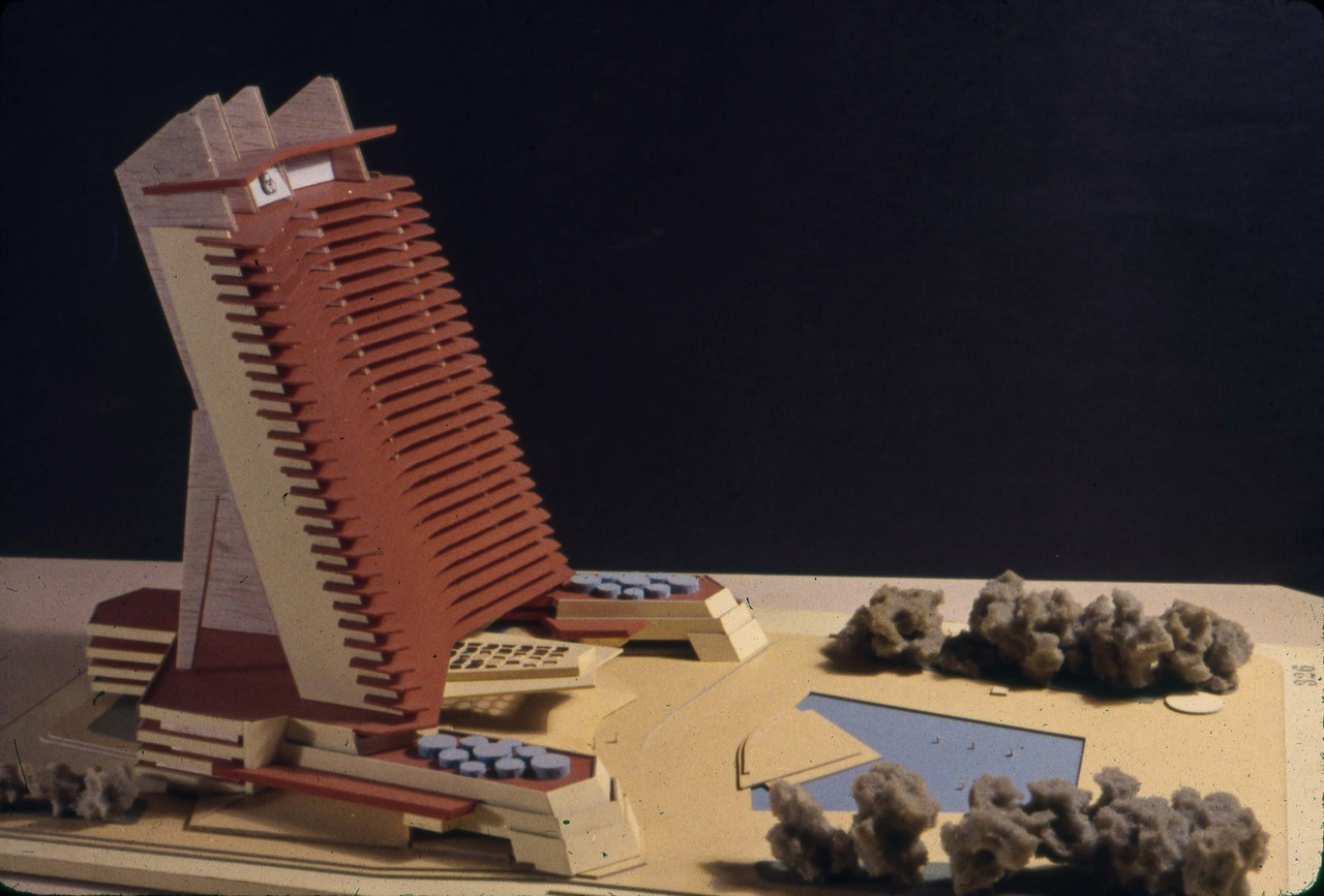 Christopher Owtram entry, City Hall and Square Competition, Toronto, 1958, architectural model
