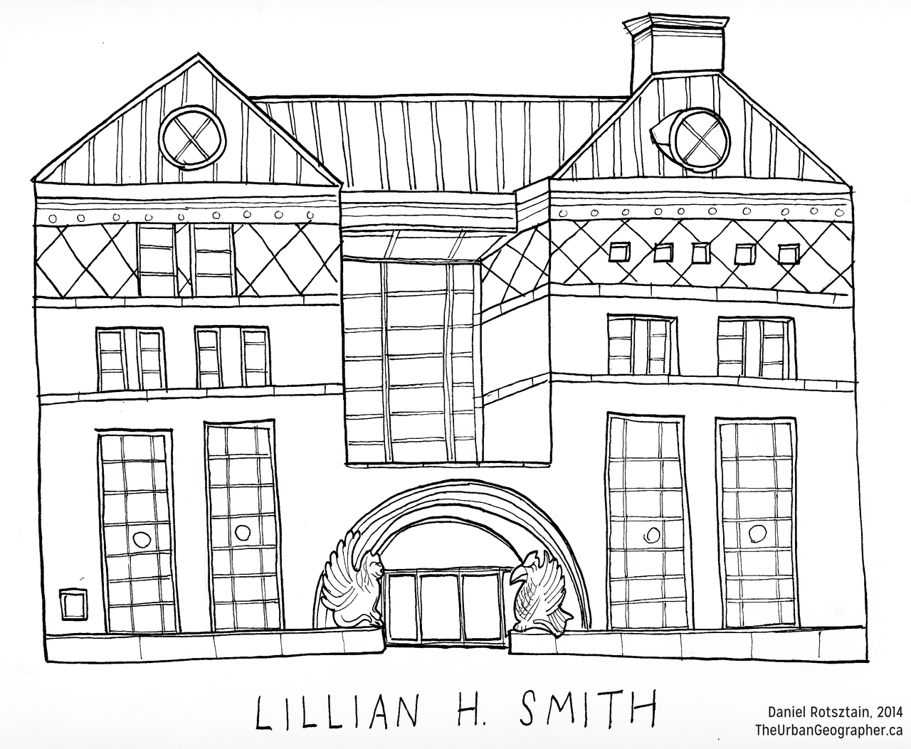 An Illustration of Lillian H. Smith branch, Toronto Public Library