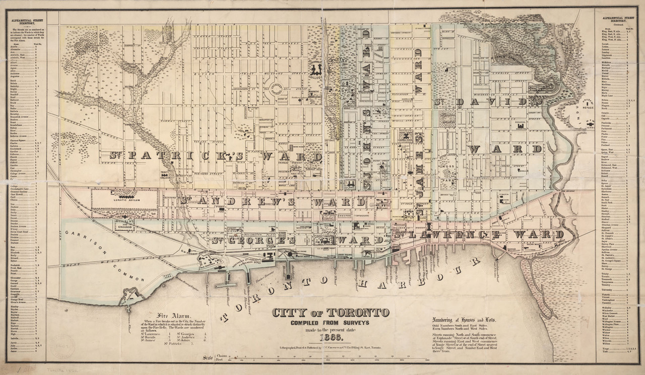 City of Toronto compiled from surveys made to the present date 1866