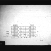 Sven Backstrom entry City Hall and Square Competition, Toronto, 1958, section drawing