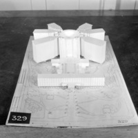 Z. K. Kaplan entry, City Hall and Square Competition, Toronto, 1958, architectural model
