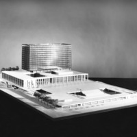Gordon S. Adamson & Associates entry, City Hall and Square Competition, Toronto, 1958, architectural model