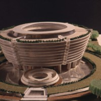 M. J. Barnes entry, City Hall and Square Competition, Toronto, 1958, architectural model