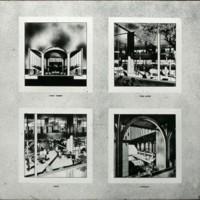 Perkins & Will entry, City Hall and Square Competition, Toronto, 1958, four perspective drawings