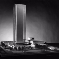 Dobush and Stewart entry, City Hall and Square Competition, Toronto, 1958, architectural model