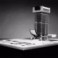G. Subiotta entry City Hall Square Competition, Toronto. 1958. architectural model