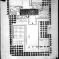 Joe J. Jordan entry City Hall and Square Competition, Toronto, 1958,  first floor plan