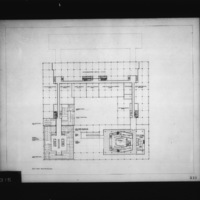 Dimitri Dimakopoulos entry City Hall and Square Competition, Toronto, 1958, second floor plan