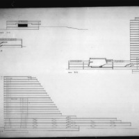 Martha and Ragnar Ypya entry City Hall and Square Competition, Toronto, 1958, section drawings