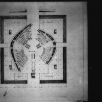 Viljo Revell entry City Hall and Square Competition, Toronto, 1958, first floor plan