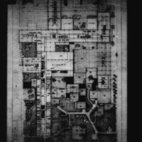 Tekne entry City Hall and Square Competition, Toronto, 1958, floor plan and part of square