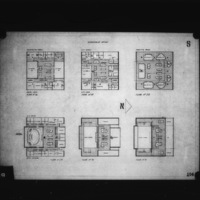 G. Subiotta entry City Hall and Square Competition, Toronto, 1958, government offices floor plans