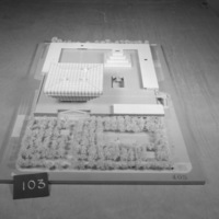 Manuel D. Dumlao entry, City Hall and Square Competition, Toronto, 1958, architectural model