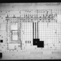 Martha and Ragnar Ypya entry City Hall and Square Competition, Toronto, 1958, second floor plan