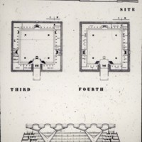A-R3-19 - John H Andrews entry City Hall and Square Competition_Toronto_1958_2 floor plans and section.jpg