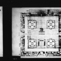 T. Lam, Louis Pacheco and Wong entry City Hall and Square Competition, Toronto, 1958, plaza concourse plan