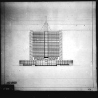 T. Bliss entry City Hall and Square Competition, Toronto, 1958, south elevation