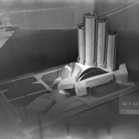G. Simonetti and P. Ranzani entry, City Hall and Square Competition, Toronto, 1958, architectural model