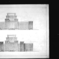 L. Kurpatow entry City Hall and Square Competition, Toronto, 1958, elevation drawings