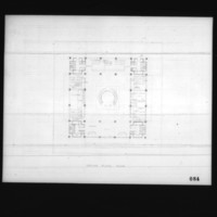 I.M.Pei & Associates entry City Hall and Square Competition, Toronto, 1958, ground floor plan