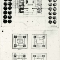 I. M. Pei & Associates entry City Hall and Square Competition, Toronto, 1958, ground floor and office plans