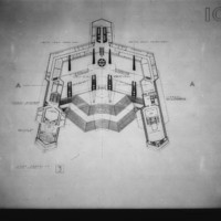 Christopher Owtram entry City Hall and Square Competition, Toronto, 1958, lower mezzanine plan level 3