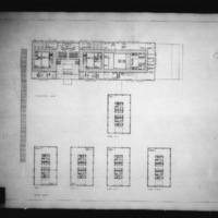 Dobush and Stewart entry City Hall and Square Competition, Toronto, 1958, government level and tower floor plans