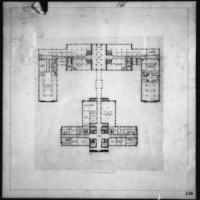 Cass Gilbert Jr. entry City Hall and Square Competition, Toronto, 1958, first floor plan