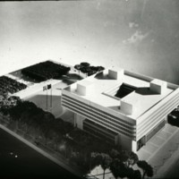 I. M. Pei & Associates entry, City Hall and Square Competition, Toronto, 1958, architectural model