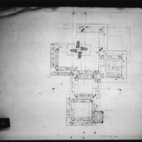 D. R. Dobereiner entry City Hall and Square Competition, Toronto, 1958, ground floor plan