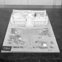 J. Narwekar entry, City Hall and Square Competition, Toronto, 1958, architectural model