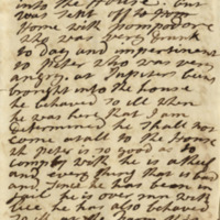 Diary entry by Elizabeth Russell