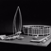 Michael Bach entry, City Hall and Square Competition, Toronto, 1958, architectural model